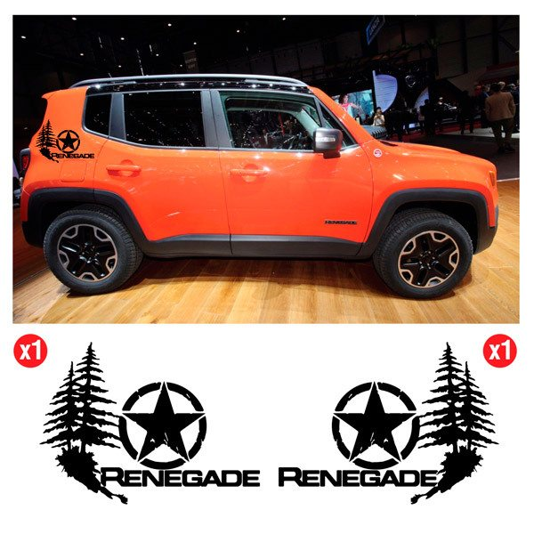 Car & Motorbike Stickers: Set 2X Pine Renegade Side Bands