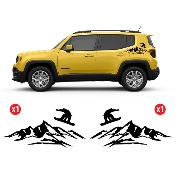Car & Motorbike Stickers: Set 2X Renegade Salto Snow Side Bands
