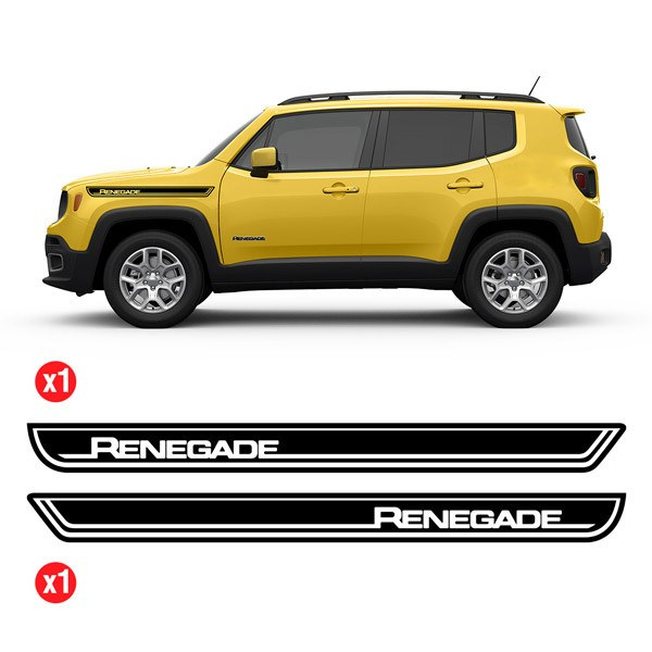Car & Motorbike Stickers: Set 2X Renegade Side Bands