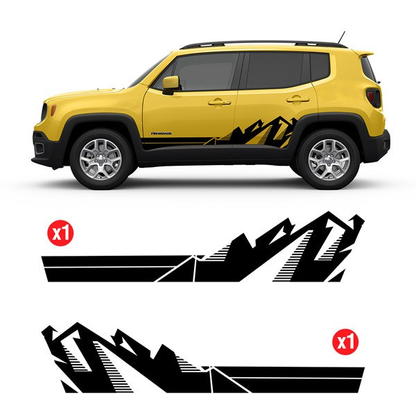 Car & Motorbike Stickers: Set 2X Renegade Mountain Side Bands