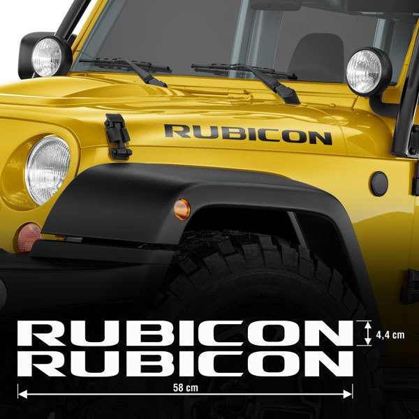 Car & Motorbike Stickers: Set 2X Rubicon Bands