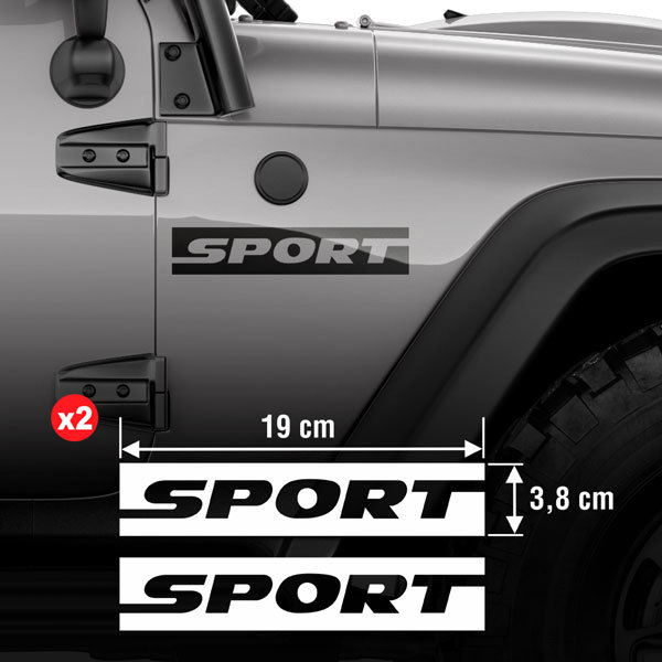 Car & Motorbike Stickers: Set 2X Lateral Sport Side