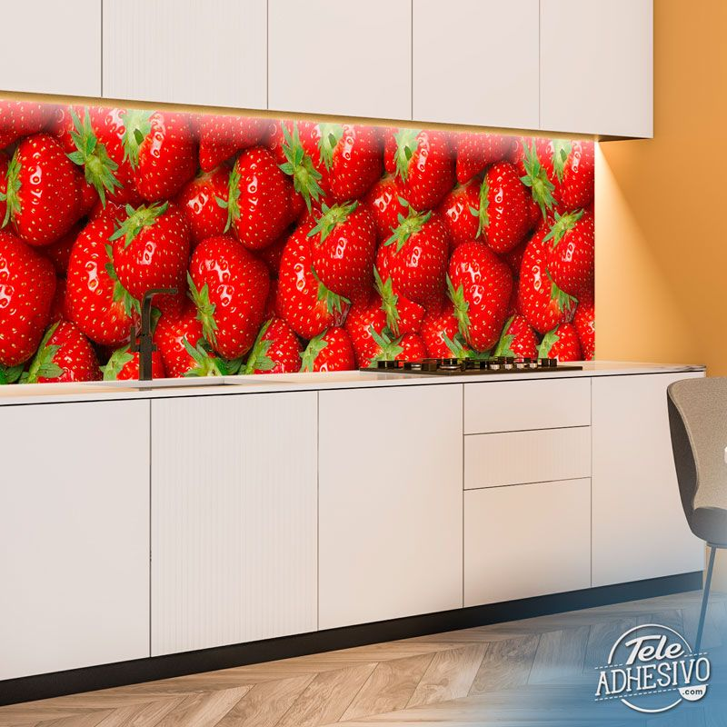 Wall Murals: Fresh strawberries