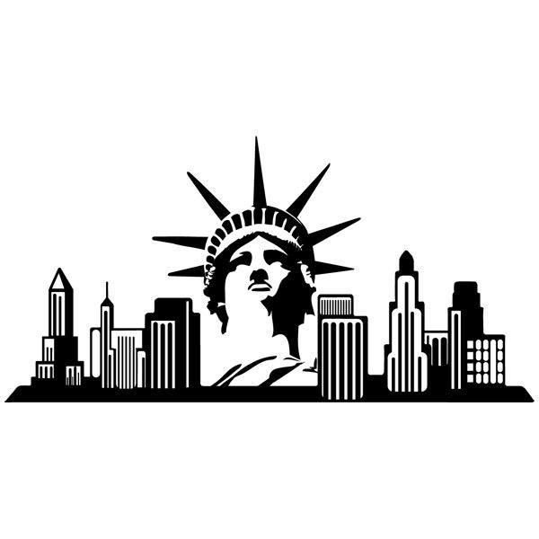 Wall stickers new york skyline for Sticker mural new york