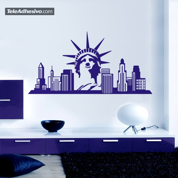 Stickers new york building images - Sticker mural personnalise ...