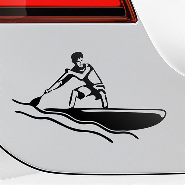 Car & Motorbike Stickers: Paddle surf