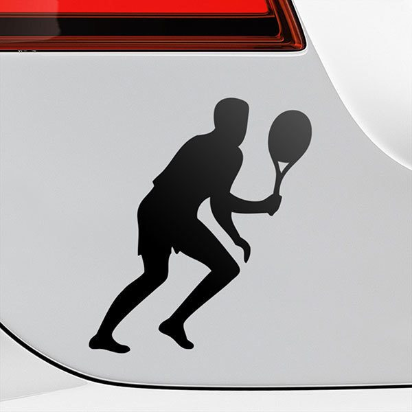 Car & Motorbike Stickers: Tennis player running