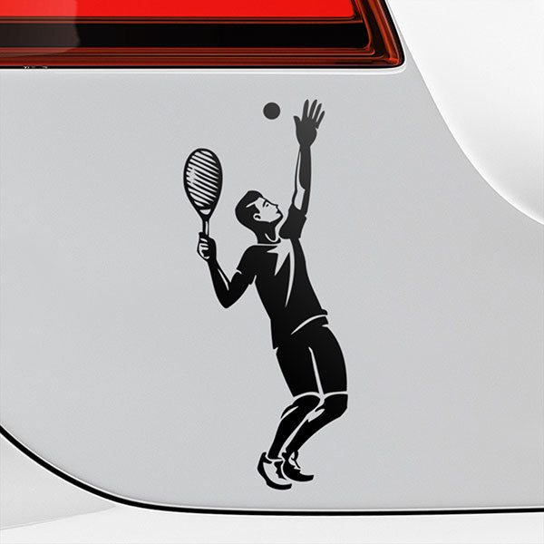 Car & Motorbike Stickers: Tennis Take Off