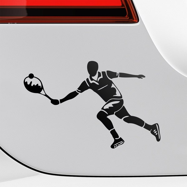 Car & Motorbike Stickers: Tennis player left