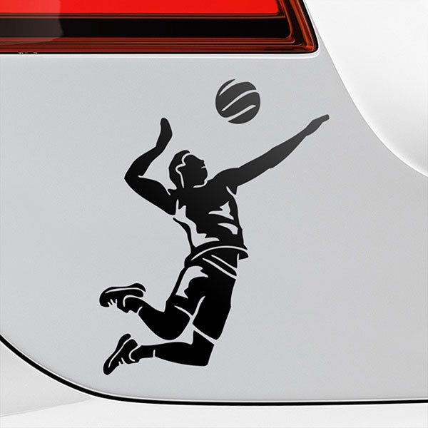 Car & Motorbike Stickers: Spike volleyball