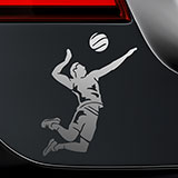 Car & Motorbike Stickers: Spike volleyball 2