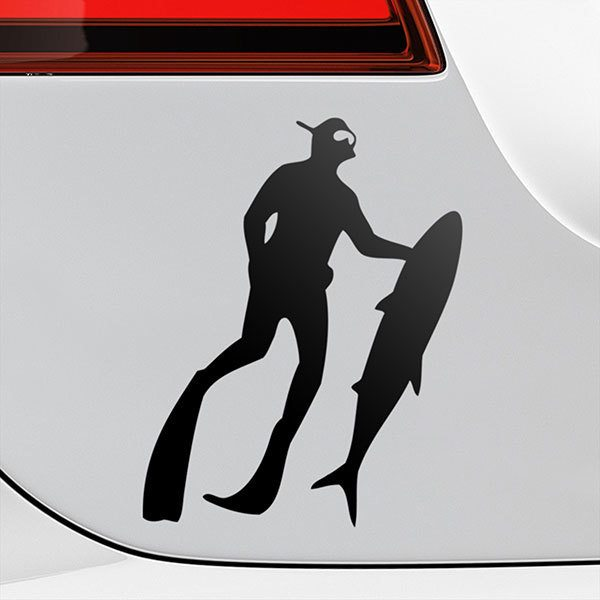 Car & Motorbike Stickers: Freshly caught spearfishing