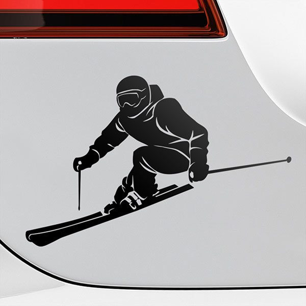 Car & Motorbike Stickers: Ski competition