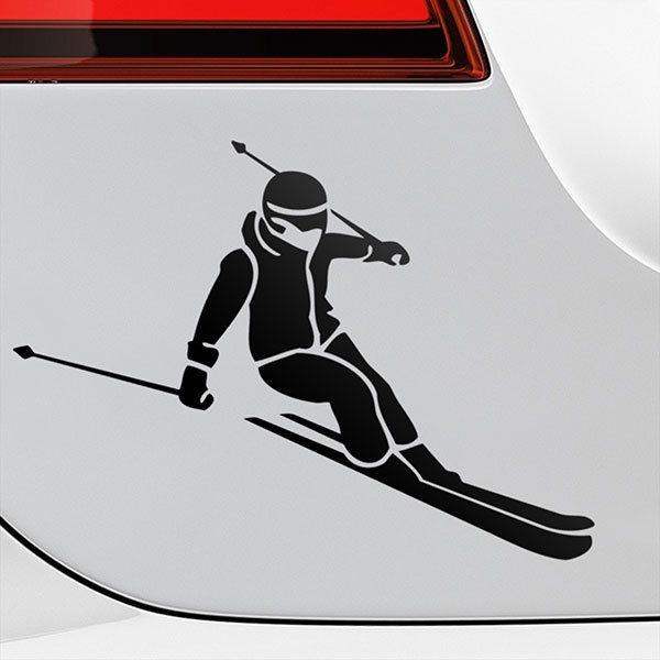 Car & Motorbike Stickers: Ski descent