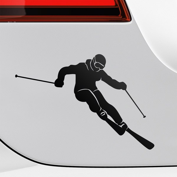 Car & Motorbike Stickers: Extreme skiing