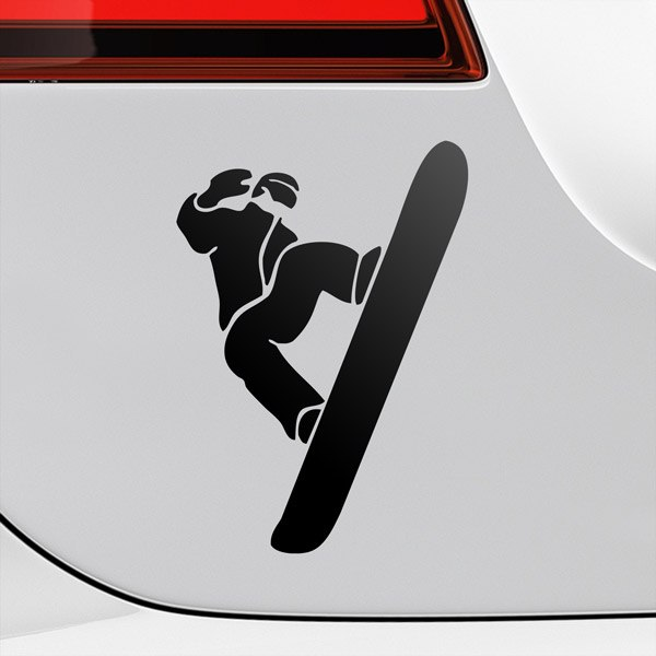 Car & Motorbike Stickers: Snowboarder in the air