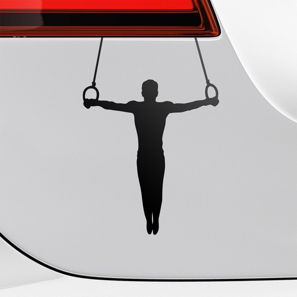 Car & Motorbike Stickers: Gymnastics Rings