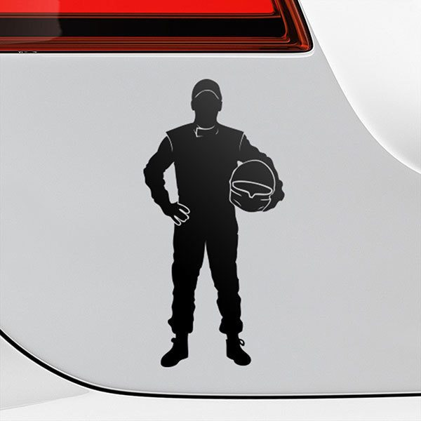 Car & Motorbike Stickers: Formula One pilot