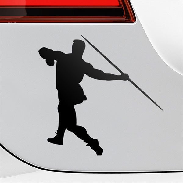 Car & Motorbike Stickers: Javelin throw