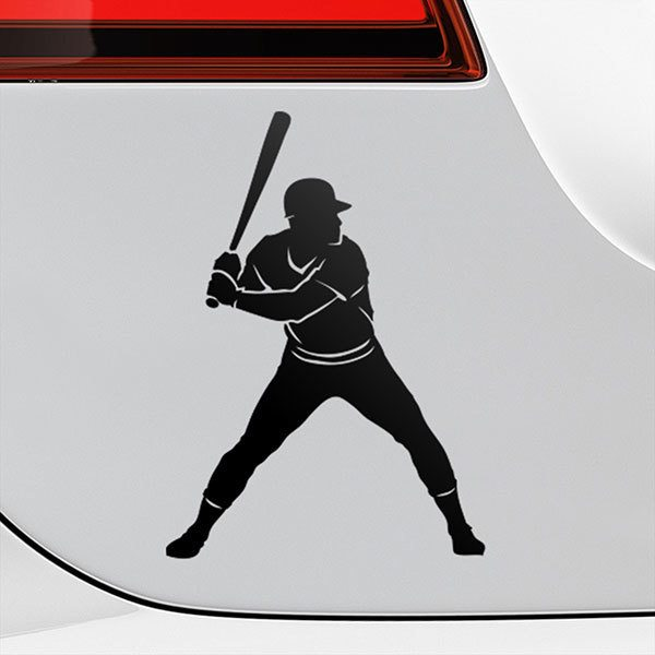 Car & Motorbike Stickers: Baseball batter