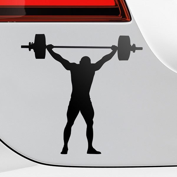Car & Motorbike Stickers: Olympic weightlifting