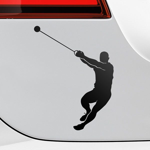 Car & Motorbike Stickers: Hammer throw