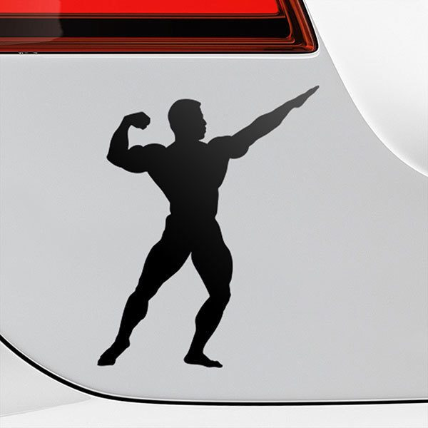 Car & Motorbike Stickers: Bodybuilder