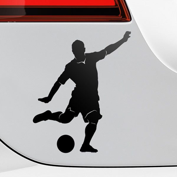 Car & Motorbike Stickers: Footballer penalty