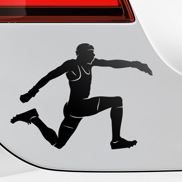 Car & Motorbike Stickers: Triple jump