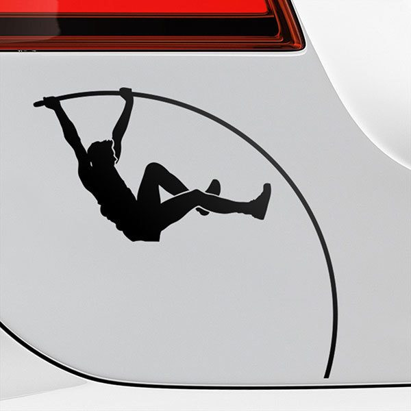 Car & Motorbike Stickers: Pole vault