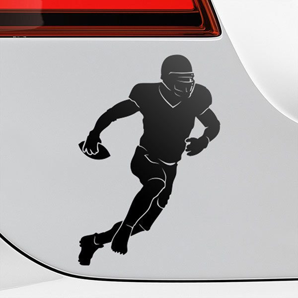 Car & Motorbike Stickers: American football Running Back