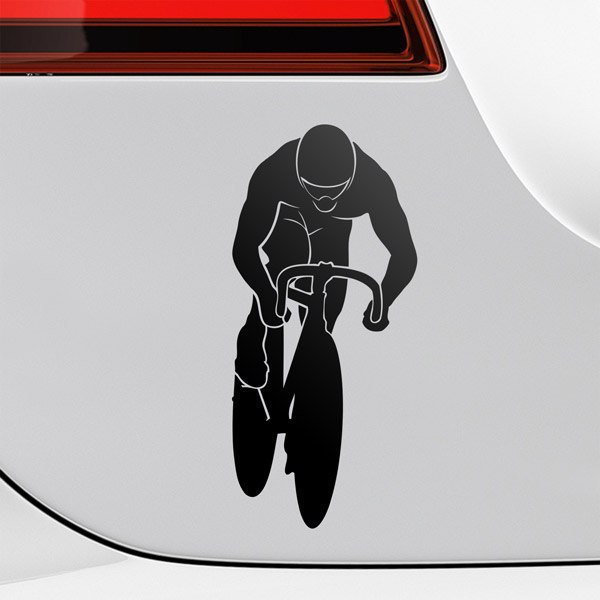 Car & Motorbike Stickers: Individual time trial cyclist