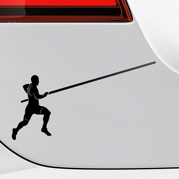 Car & Motorbike Stickers: pole vault career