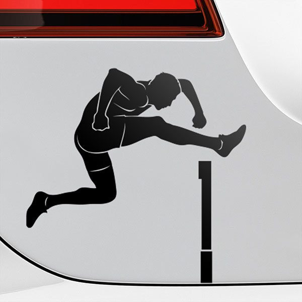 Car & Motorbike Stickers: Hurdling