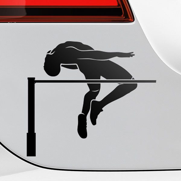 Car & Motorbike Stickers: High jump
