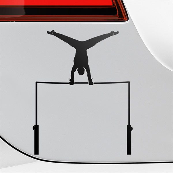 Car & Motorbike Stickers: Gymnastic horizontal bar