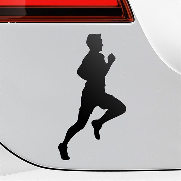 Car & Motorbike Stickers: Runner athletics