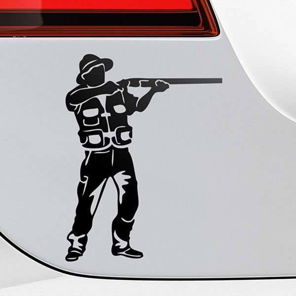 Car & Motorbike Stickers: Hunter pointing