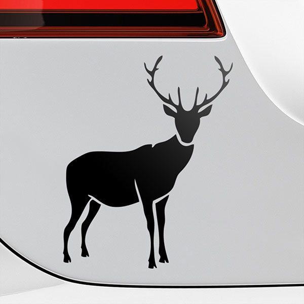 Car & Motorbike Stickers: Silhouette of deer