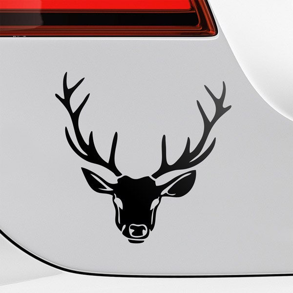 Car & Motorbike Stickers: Deer head