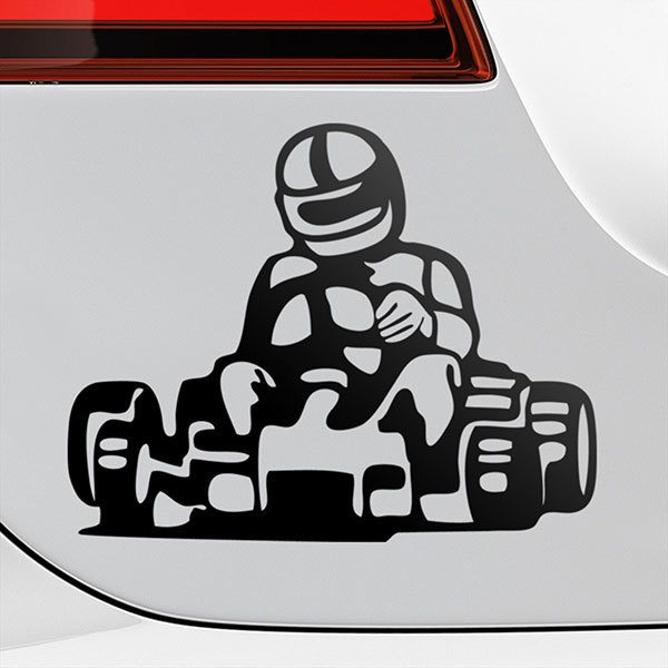 Car & Motorbike Stickers: Kart racing