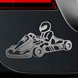 Car & Motorbike Stickers: Driving a kart 2