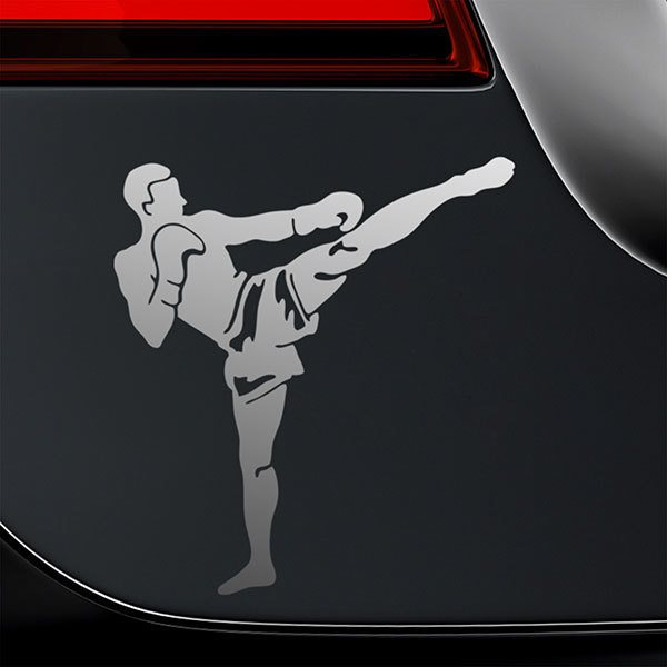 Car & Motorbike Stickers: Kick Boxing Front