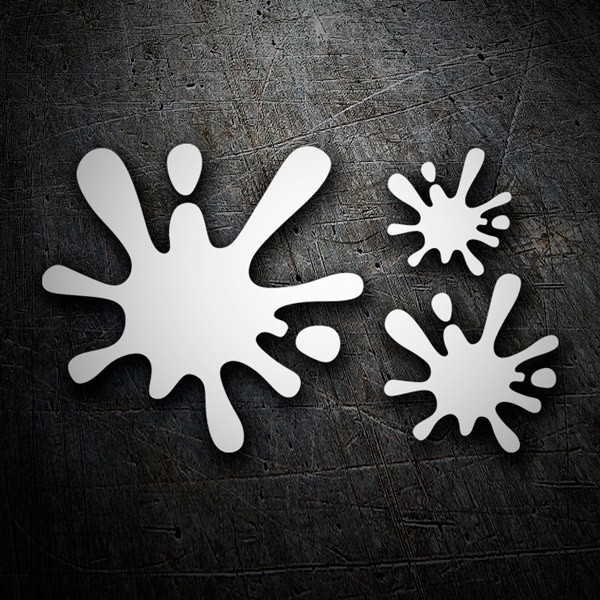 Car & Motorbike Stickers: Set 3X Paint Splatter Splat 9