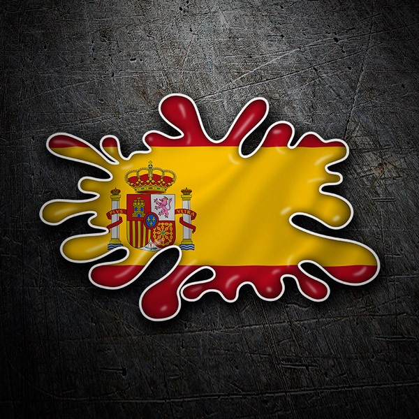 Car & Motorbike Stickers: Splash Spanish Flag