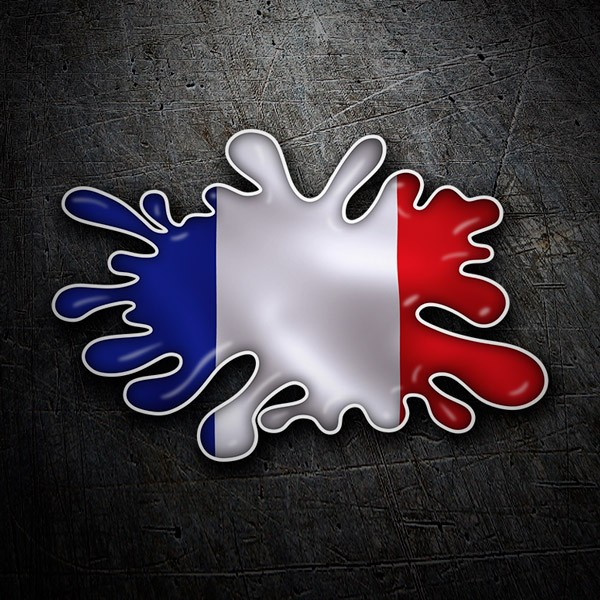 Car & Motorbike Stickers: Paint Splatter France