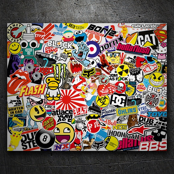 Car & Motorbike Stickers: Sticker Bomb