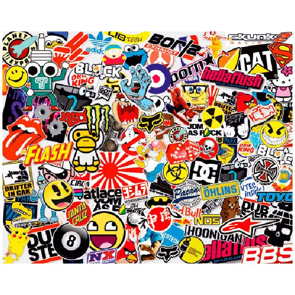 Car and Motorbike Stickers: Sticker Bomb