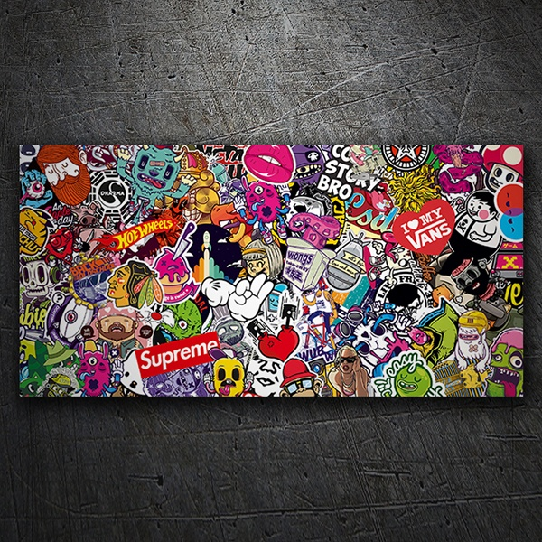 Car & Motorbike Stickers: Sticker Bomb 8