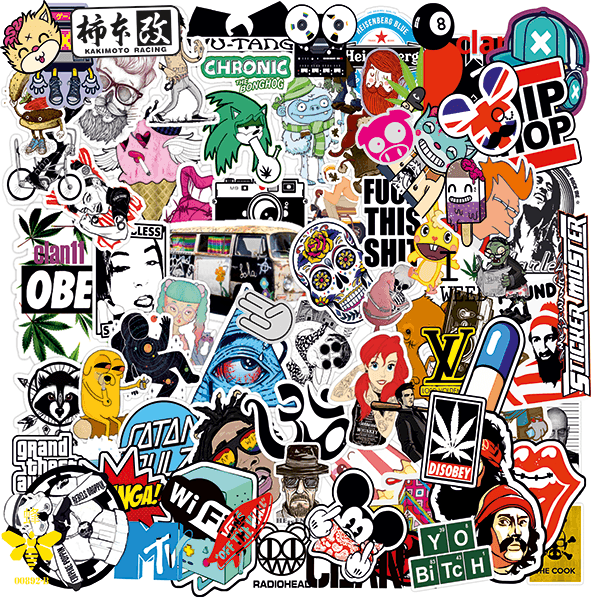 Car and Motorbike Stickers: Sticker Bomb 10